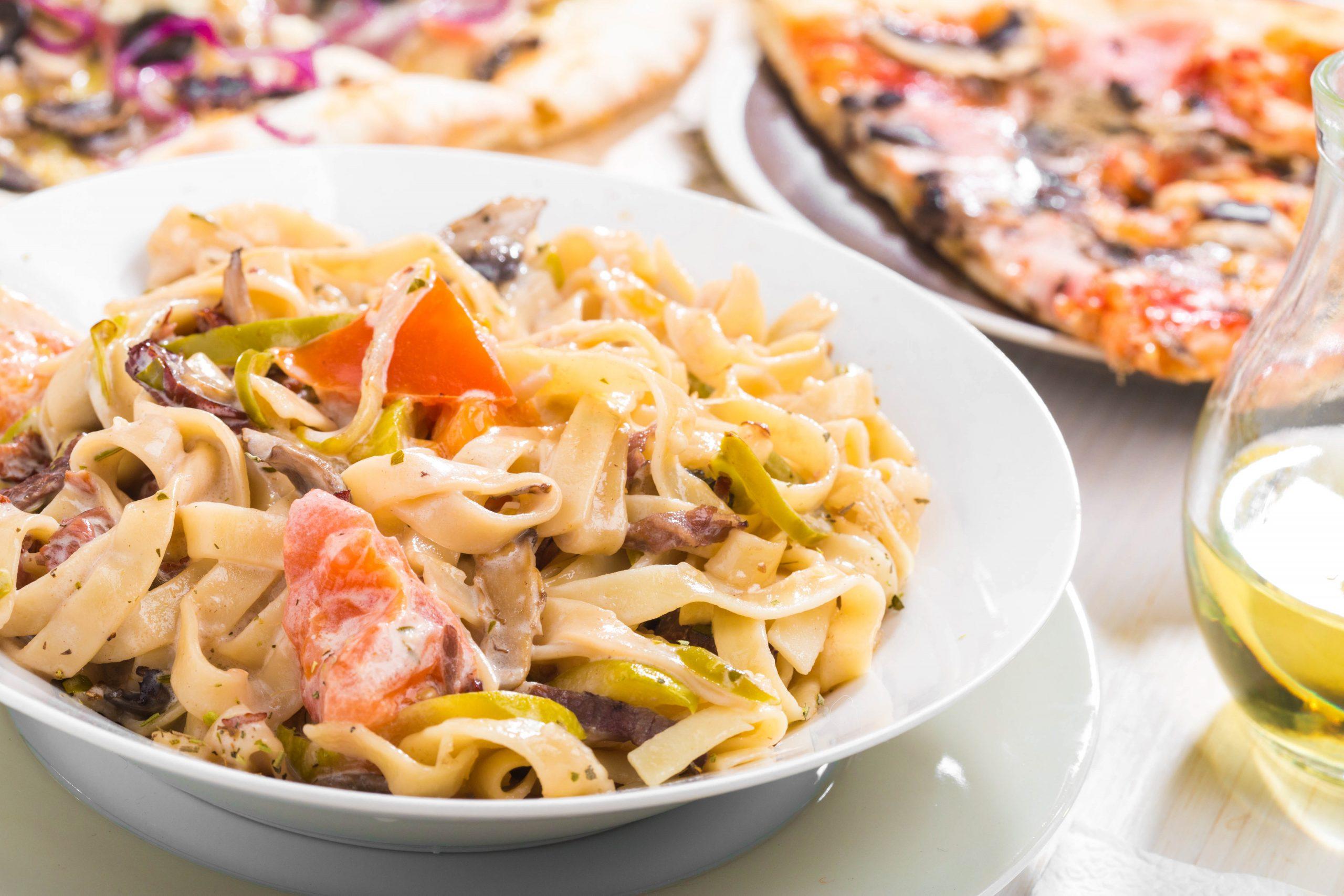 italian food pasta and pizza